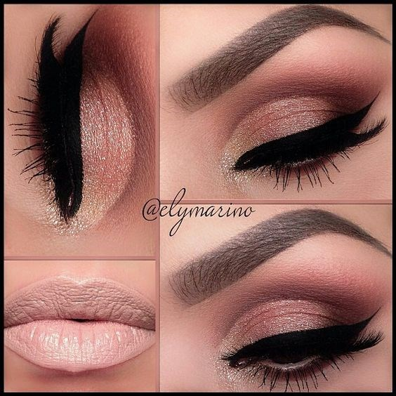 Love simple makeup like this by @elymarino Anastasia Beverly Hills Cat Palette in Beauty Mark, Play Date, Couture, Scout & 10K Motives Cosmetics lipstick in Barefoot:
