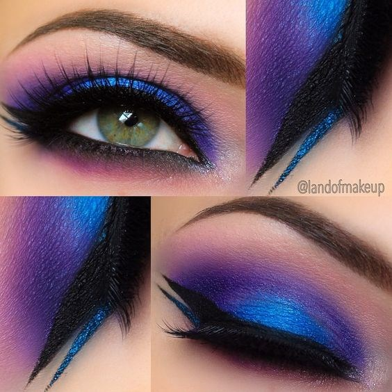 Magnificent Blues and Purples ❤'d by http://makeupartistrycairns.com.au/ To have radian eyes for the perfect eye makeup look, also check out these bright eye makeup ideas. #makeup #inspiration #eyes: